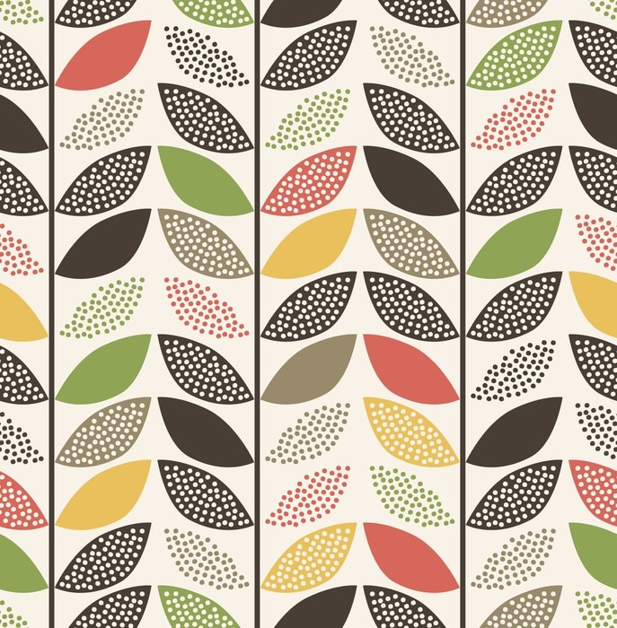 seamless leaf pattern background Wall Mural - Vinyl - Graphic Resources