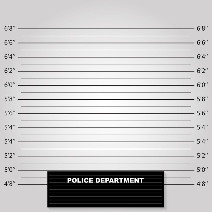 police lineup or mugshot background vector wall mural