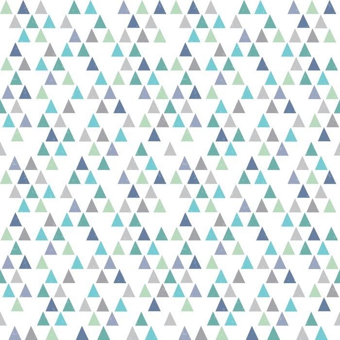 tableau sur toile hippie sans soudure motif g om trique triangles bleu aqua pixers nous. Black Bedroom Furniture Sets. Home Design Ideas