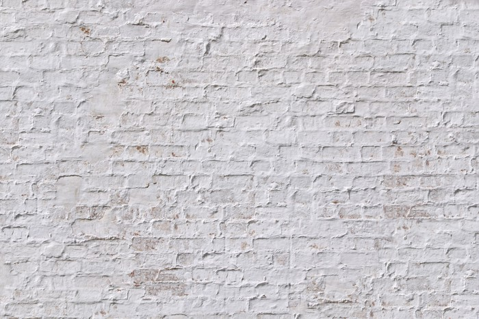 Vinylová Tapeta White grunge cihlová zeď na pozadí - iStaging