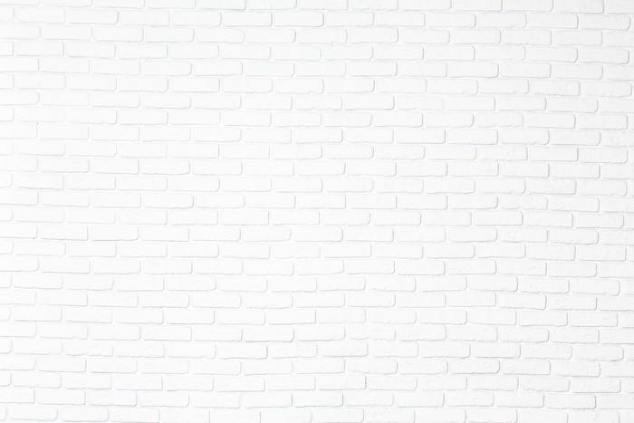 Vinylová Tapeta Cihla bílá zeď - Struktury