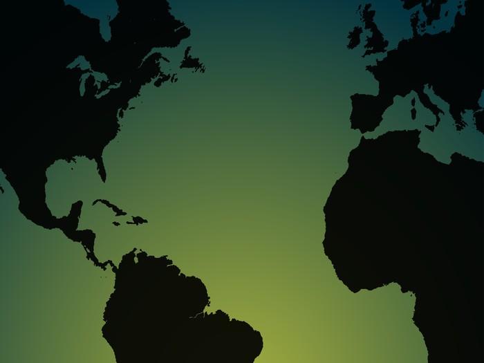 Vinylová Tapeta Mapa světa ilustrace - Jiné