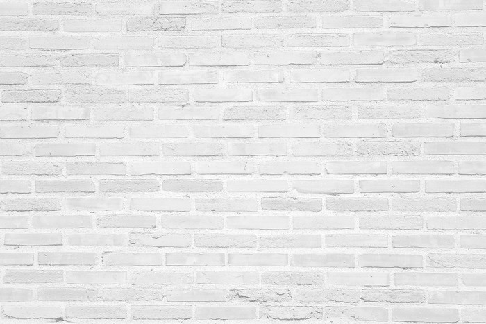 White grunge brick wall texture background Wall Mural - Vinyl - Themes