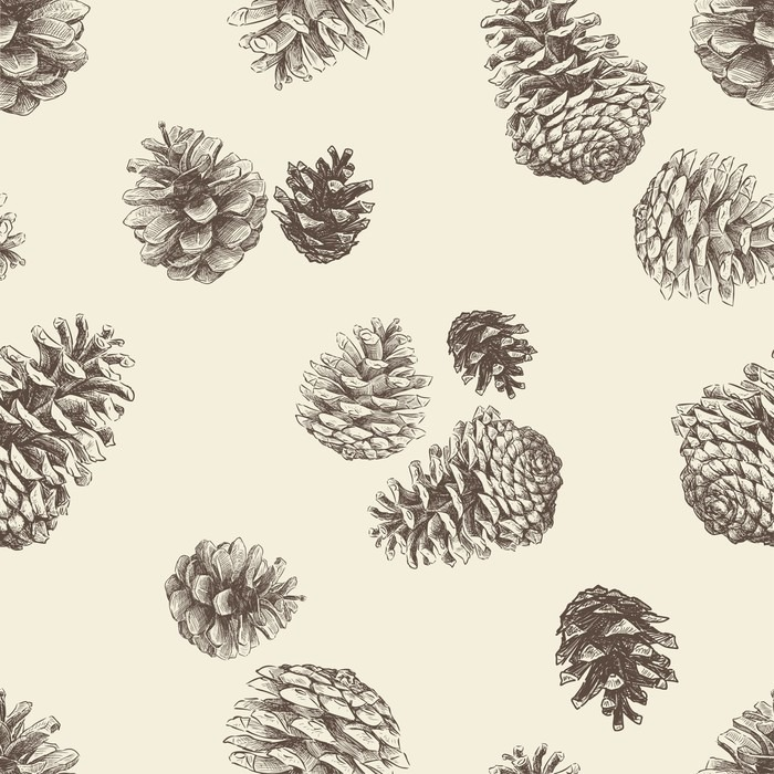 papier peint motif des pinecones pixers nous vivons. Black Bedroom Furniture Sets. Home Design Ideas