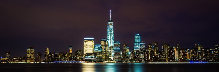 Vinylová Tapeta New York City Manhattan panorama panoramatický obraz přes Hudson Rive - Americká města