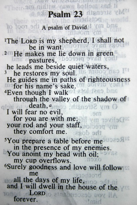 how to teach psalm 23