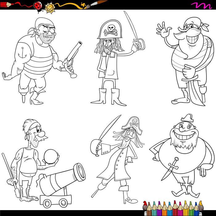 Fototapete Fantasie Piraten Cartoon Malvorlagen • Pixers® - Wir ...