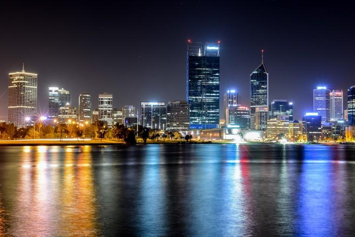 Vinylová fototapeta Perth, Austrálie Skyline odráží v řece Swan - Vinylová fototapeta