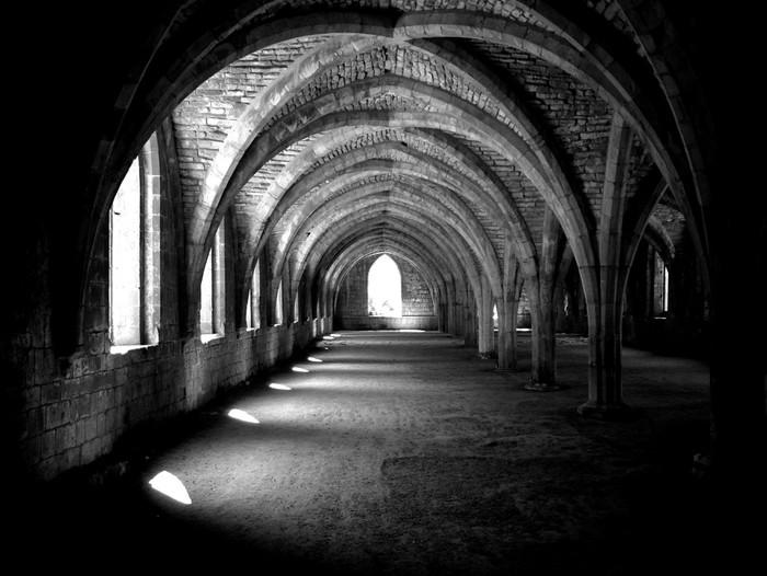 Papier Peint Vinyle Abbaye arches -