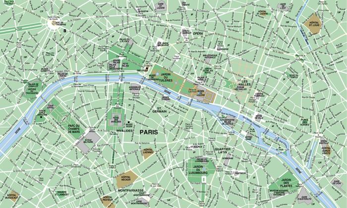 paris karta Fototapet Paris Karta • Pixers®   Vi lever för förändring paris karta
