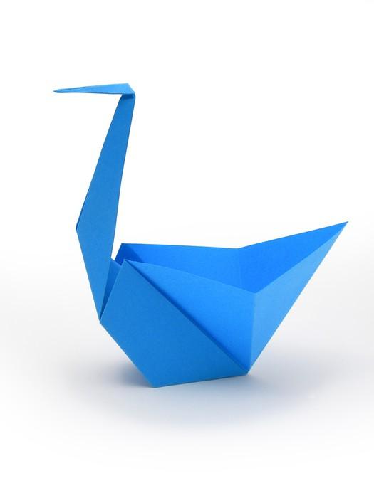 Plakát Origami - Cigno BLU - Ptáci