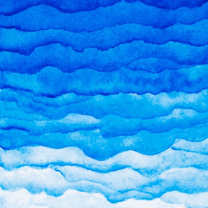 Vector Watercolor Blue Wave Background Watercolor Layers