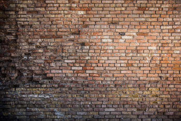 Carta da parati muro di mattoni rossi sfondo pixers for Carta da parati effetto muro mattoni
