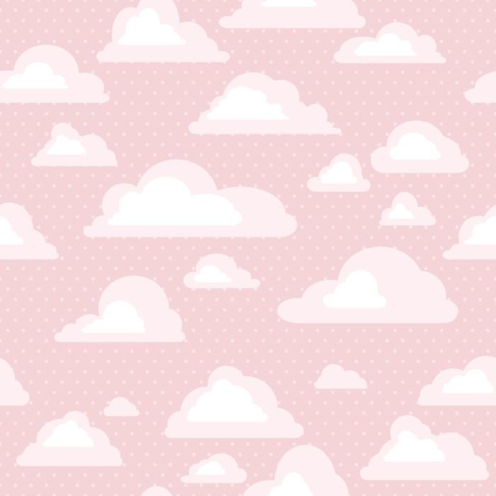 Vinylová fototapeta Bezešvé vzorek s mraky - Vinylová fototapeta