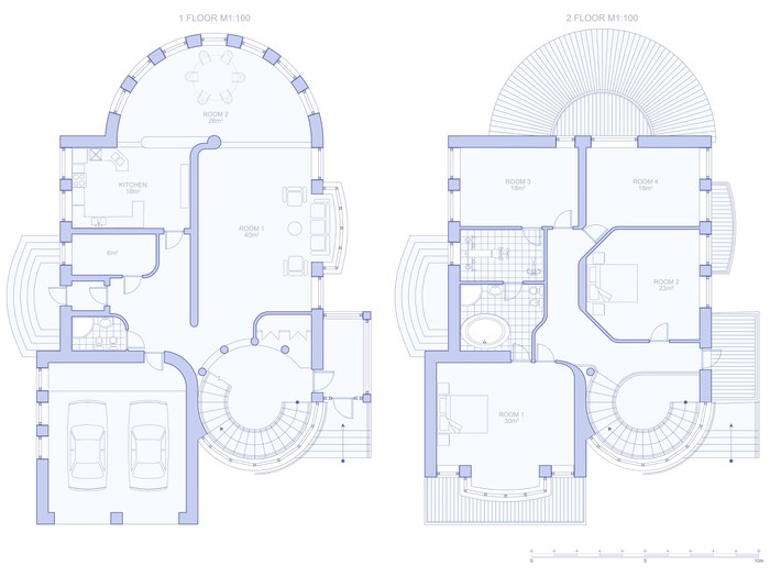 Plan house blueprint technical draw wall mural pixers we live plan house blueprint technical draw vinyl wall mural home and garden malvernweather Gallery