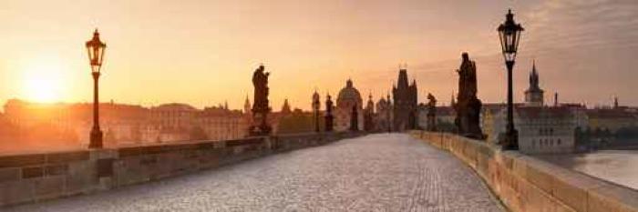 Vinylová Tapeta Karlsbrücke in Prag Panorama - Cestování