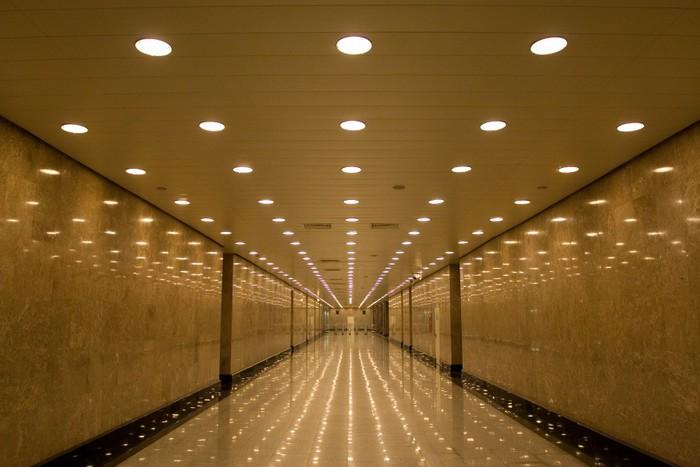 Papier Peint Vinyle Tunnel de lumières - Thèmes