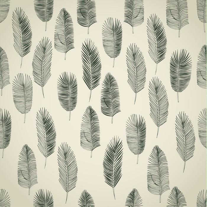 papier peint ensemble de feuilles de palmiers dessin s la main pixers nous vivons pour. Black Bedroom Furniture Sets. Home Design Ideas