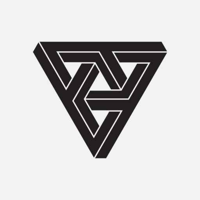 fototapete optische t uschung dreiecke geometrische element vektor illustration pixers. Black Bedroom Furniture Sets. Home Design Ideas