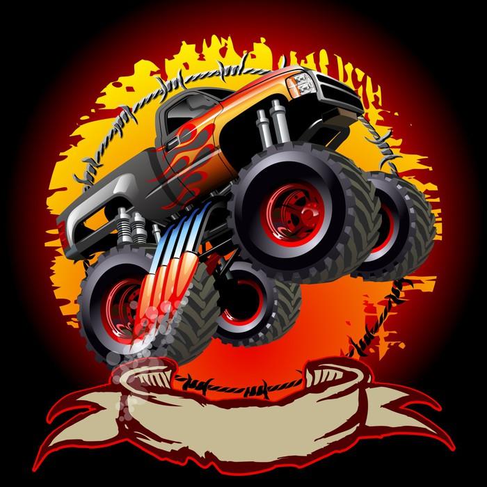 Fotobehang Cartoon Monster Truck • Pixers®