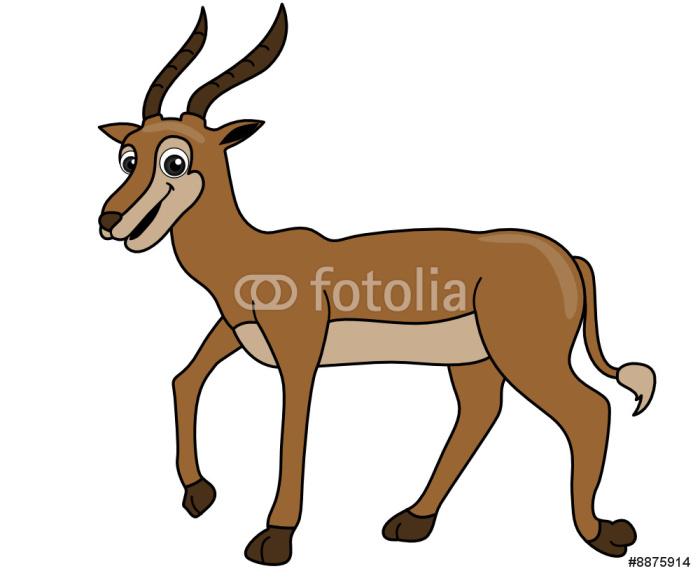 Vinylová Tapeta Antilopa - Nálepka na stěny