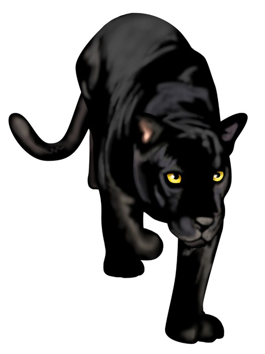 Black panther pixerstick sticker mammals