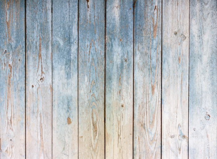 Blue Vintage Wooden Background Wall Mural Pixers 174 We