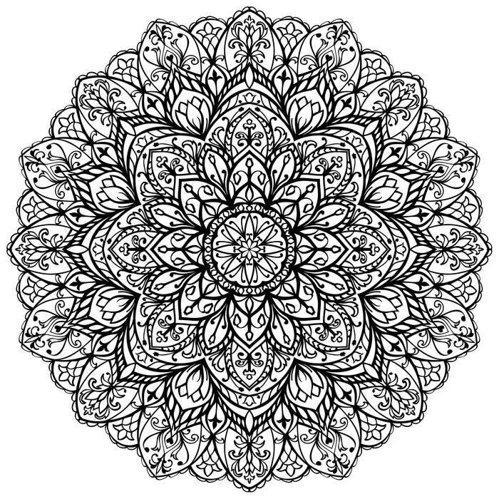 papier peint vector mandala fleuri pixers nous. Black Bedroom Furniture Sets. Home Design Ideas