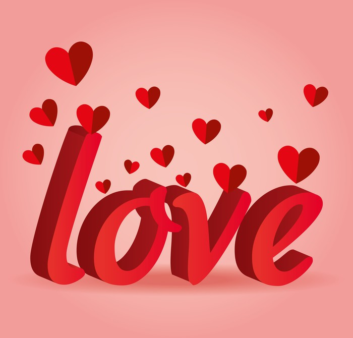Romantic Love Design Wall Mural Pixers We Live To Change