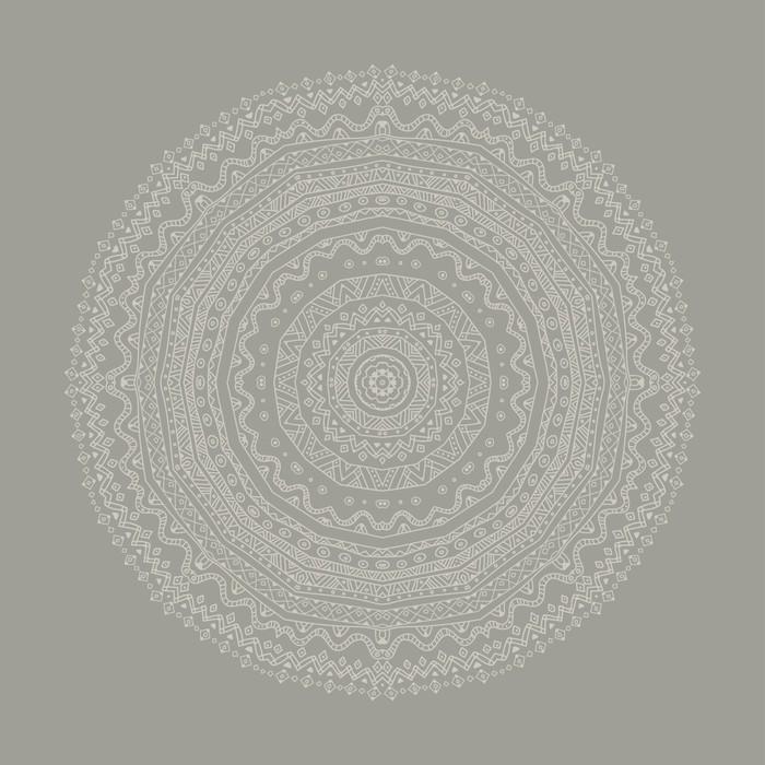 papier peint mandala gris ethnique pixers nous vivons pour changer. Black Bedroom Furniture Sets. Home Design Ideas