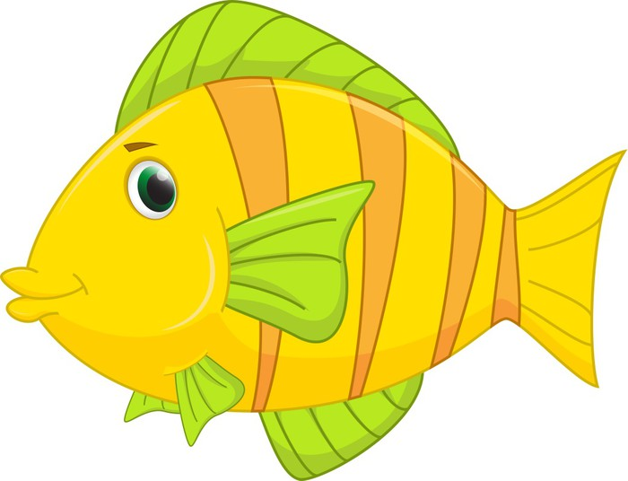 Fotomural Cute Dibujos Animados De Pescado • Pixers