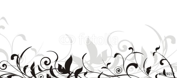Vinylová Tapeta Vector set - vektor rám květinové hranice - Rostliny