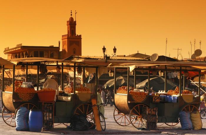 Tableau sur Toile Marrakech Jamaâ El Fna -