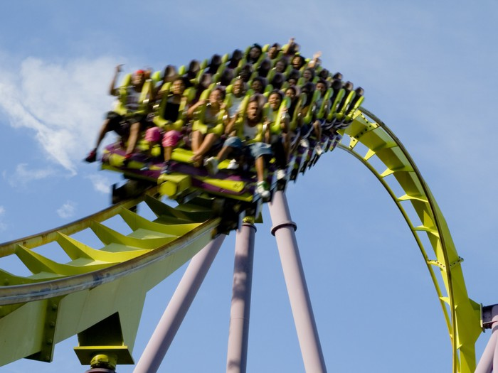 Roller Coaster Extreme Close up Canvas Print • Pixers® - We live to change