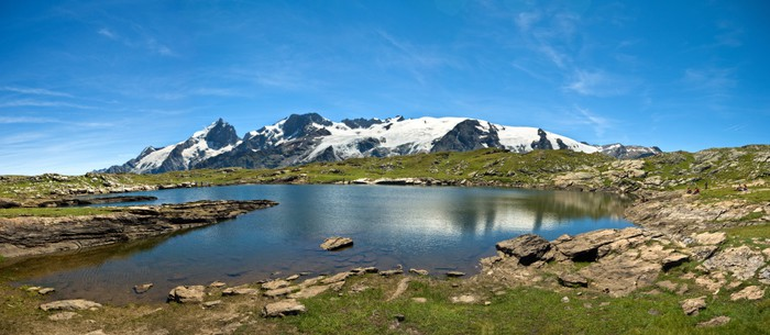 Vinylová Tapeta Lac Noir et la Meije (plateau d'Emparis) - Evropa