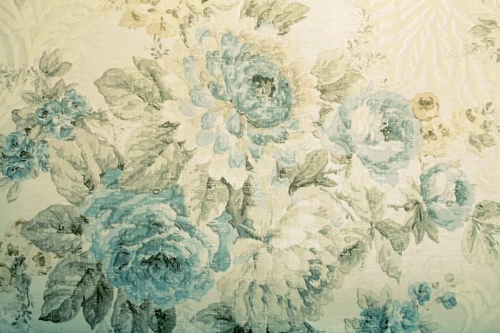 papier peint papier peint vintage avec motif bleu victorien floral pixers nous vivons pour. Black Bedroom Furniture Sets. Home Design Ideas