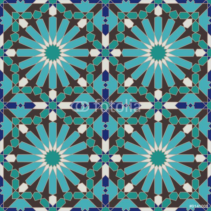 Ancient Seamless Morocco Pattern Sticker - Pixerstick - Themes