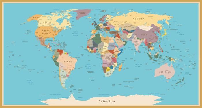 tableau sur toile world map vintage pixers nous vivons pour changer. Black Bedroom Furniture Sets. Home Design Ideas