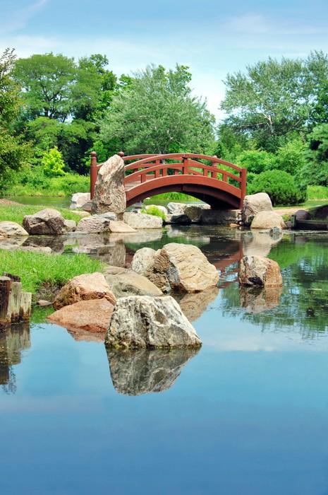 Japanese bridge, Osaka Garden located in Jackson Park, Chicago Wall ...