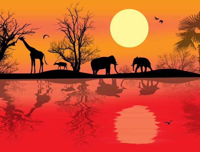 papier peint th me du safari africain pixers nous. Black Bedroom Furniture Sets. Home Design Ideas