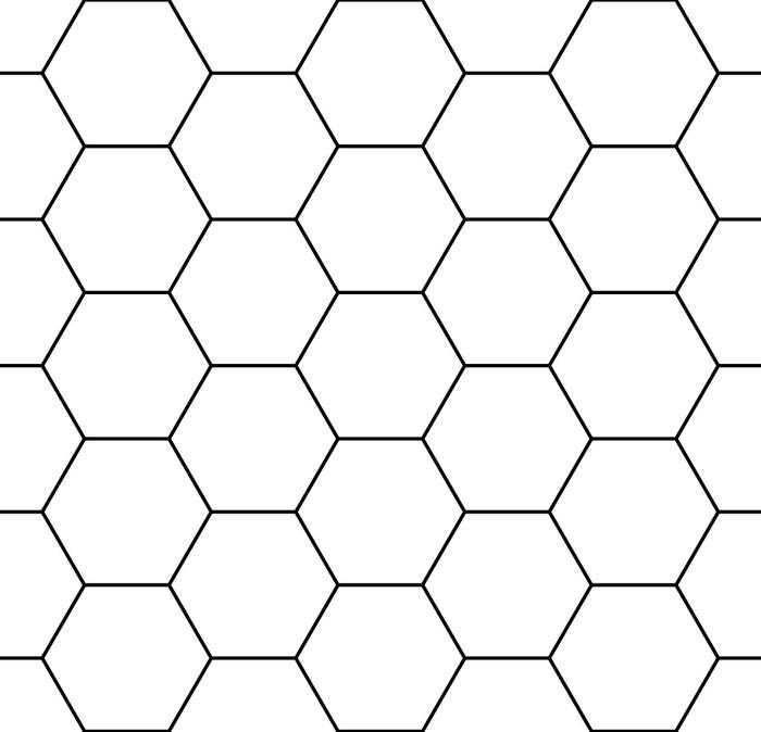 Papier peint Vecteur géométrie transparente moderne hexagone, fond ...