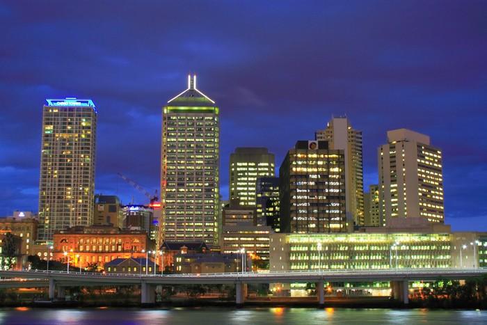 Vinylová Tapeta Brisbane City At Night - Témata