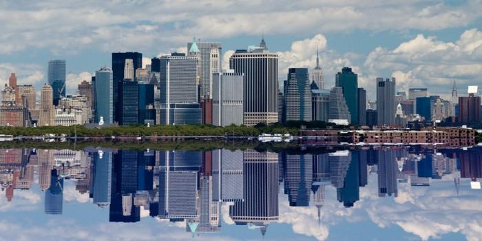 Vinylová Tapeta Dolní Manhattan reflexe - Americká města