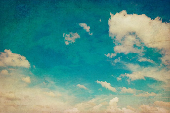 Blue Sky And Clouds Background Texture Vintage With Space