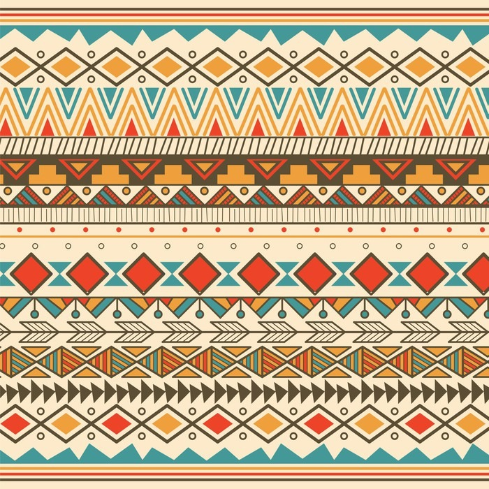 Aztec Tribal Pattern In Stripes Sticker Pixers We Live To Change Stunning Aztec Tribal Pattern