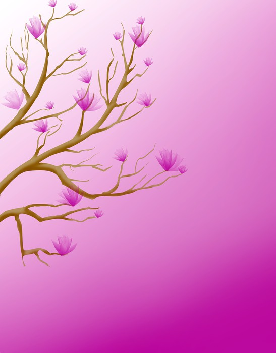 Tableau sur Toile Magnolie - Thèmes