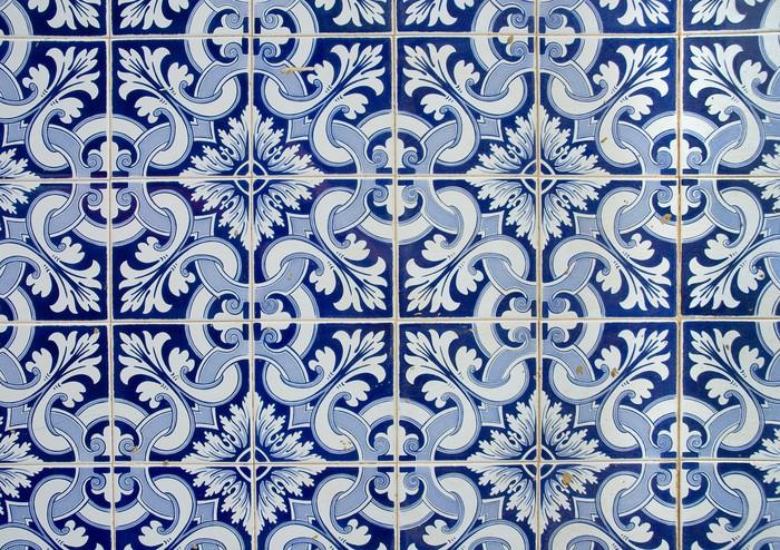 Sticker azulejos portugais ancien carrelage de fond Carrelage portugais