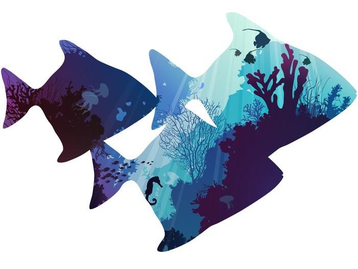 Fisk Garderobe klistermærke -