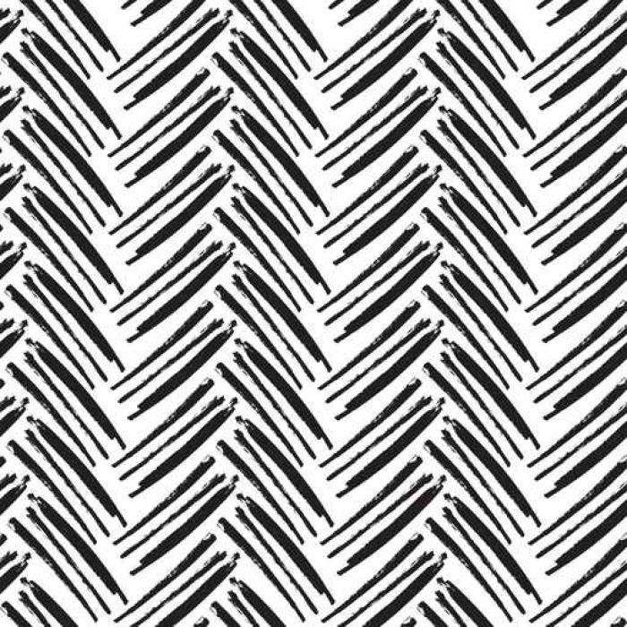 Vinylová Tapeta Rybinové bezešvé vzor. Monochromatický vektoru vzor. namalovaný - Grafika