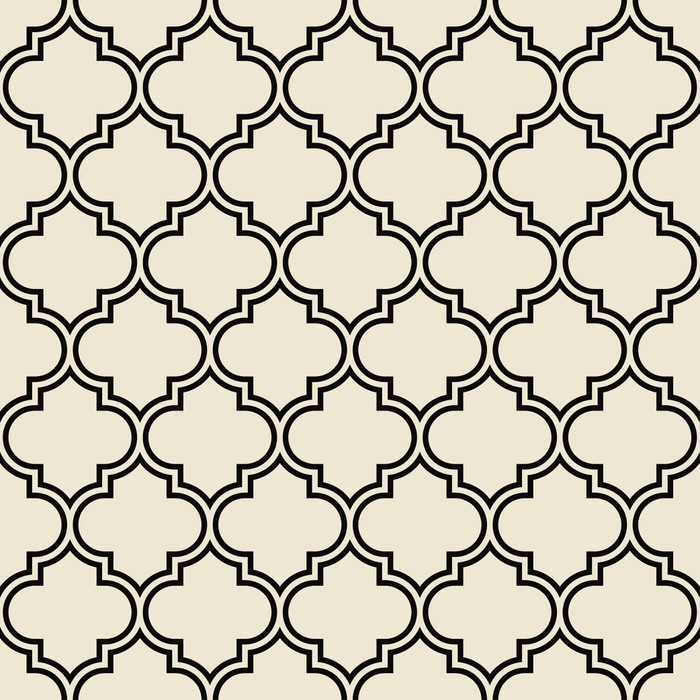 Vinilo Pixerstick Patrón de trébol de cuatro hojas, marco decorativo ...